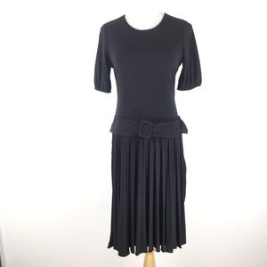 Calvin Klein Size 10 Belted Pleated Dress
